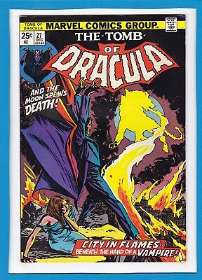 "Tomb Of Dracula #27_December 1974_ Very Fine+_""...and The Moon Spews Death""!"