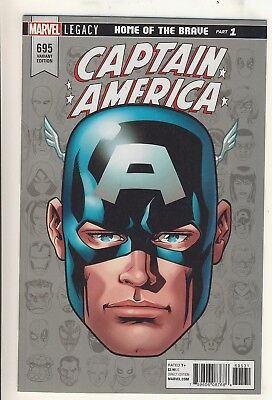 Captain America (2017) 695 NM Legacy Headshot Variant Cover