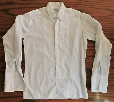 Rocola evening dress shirt Embroidered front Mens collar size 15 vintage 1970s