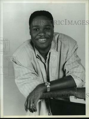 "1987 Press Photo Malcolm-Jamal Warner as Theo in ""The Cosby Show"" - mjp02315"