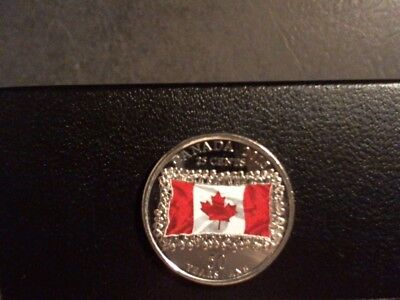 CANADA 2015 25c coin colored Nice