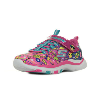 Chaussures Baskets Skechers fille Trainer Lite Happy Dancer taille Rose  Textile fd9d6d7def64