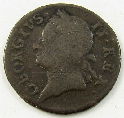Ireland 1760 Farthing -VG/F- KM# 135 PG 970 - Last Coinage of George II