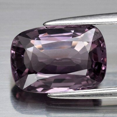 VS 3.00ct 10.5x7.4mm Cushion Natural Purple Spinel, M'GOK