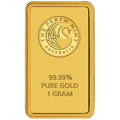 Perth Mint Gold 1g Minted Bullion Bar (Certicard)