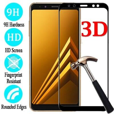 For Samsung Galaxy A8/A8 Plus 2018 Full Coverage Tempered Glass Screen Protector