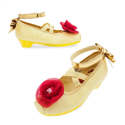 Disney Store Belle Beauty & the Beast Shoes Girls Size 7/8 9/10 11/12 13/1