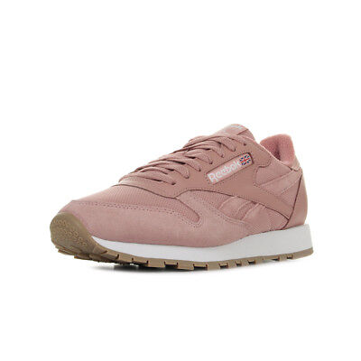 dd532e1a18783 Chaussures Baskets Reebok unisexe Classic Leather Estil taille Rose Cuir  Lacets
