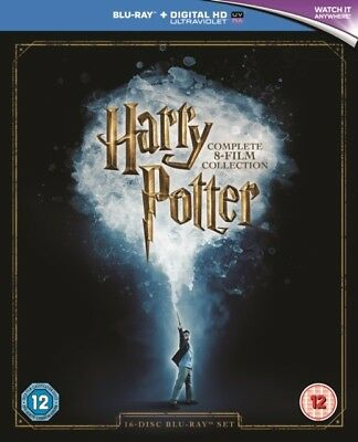 Harry Potter The Complete 8 Film Collection Blu-ray Region B New + Digital HD UV