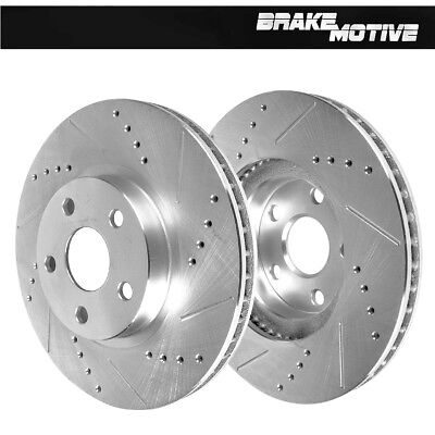 Brake Rotors FRONT KIT ELINE CROSS DRILLED /& PADS BMW 335D