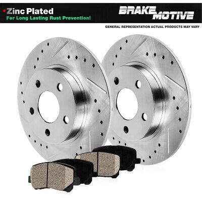 Front+Rear Brake Rotors Ceramic Pads For Sebring Avenger Compass Patriot Lancer