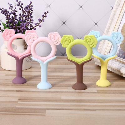 1PC Baby Soothing Ring Teether BPA Free Silicone Chew Charms Baby Teething Toys