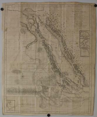 Red Sea Saudi Arabia Egypt 1804 James Bruce Antique Original Copper Engraved Map