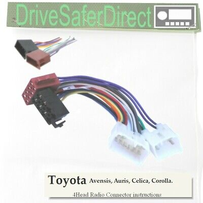 4-Head-7640-71J Radio Cable,ISO-JOIN for Xtrons Android ISO Radio/Toyota Auris