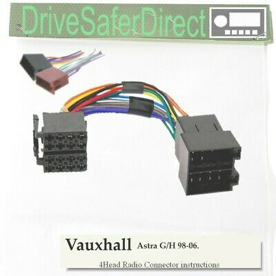 4-Head-8402-52J Radio Lead,ISO-JOIN for Xtrons Android/Vauxhall Astra G/H 98-06