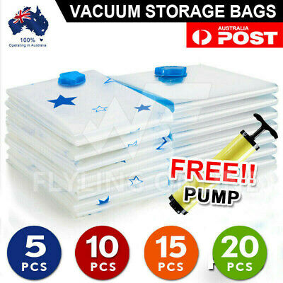 Vacuum Storage Bags Space Saver Seal Compressing Medium Large Jumbo Supersize AU