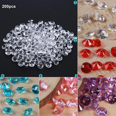 200pcs/set 10mm Wedding Diamond Scatter Table Party Crystals Home Confetti Decor