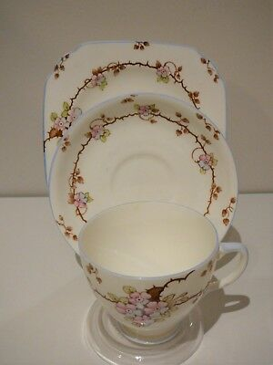 Old Royal Bone China Trio Cup Saucer Plate England Vintage Blossom