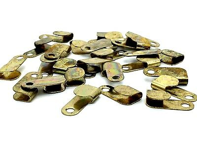 FOLDED PICTURE TURNS 20mm turnbutton brass frame lock framing twist clips (582)