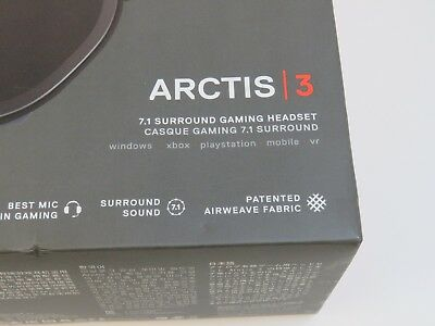 SteelSeries Arctis 3 7.1 Surround Gaming Headset Multi - Black (HS-00010)