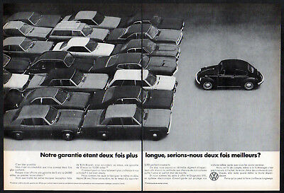 1972 VOLKSWAGEN Beetle Vintage Original 2-pages Print AD Coccinelle Canada