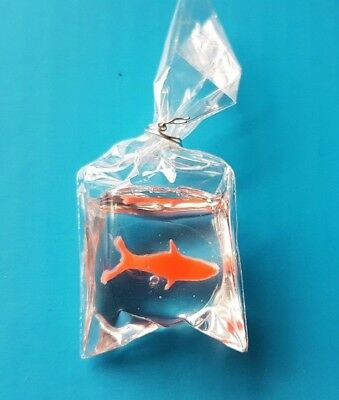 GOLDFISH IN A BAG for 1:12th scale dolls house fairground vintage child pet