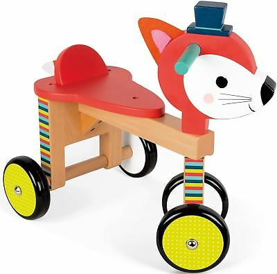 Janod FOX RIDE-ON Child/Kids Outdoor Wooden Activity Toy BN