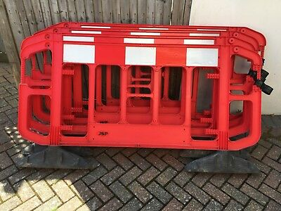 4 x Plastic Road Safety Barriers