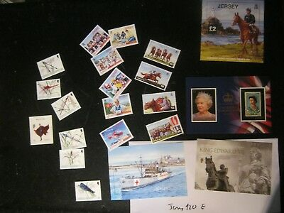 Lot E £114 Unmounted Mint Jersey Face In 6 Phot0S Mainly 21St Cenury Free Uk Pos