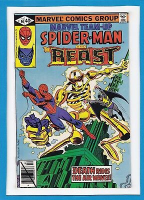 Marvel Team-Up #90_Feb 1980_Very Fine+_Spider-Man_The Beast_X-Men_Bronze Age!