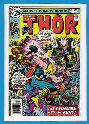 """Mighty Thor #249_July 1976_Very Fine/near Mint_""""the Throne And The Fury""""!"""