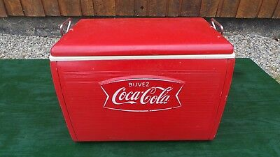 Vintage Red COCA COLA Cooler Chest with Lid Drink Soda 1966 Great OLD Item