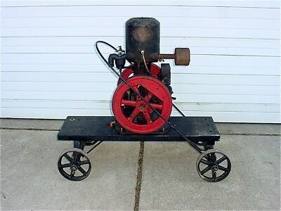 1 1/2 hp Novo Hit Miss Gas Engine With Wico Magneto & Cart