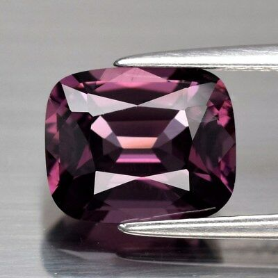 VS 3.05ct 9.4x7.7mm Cushion Natural Pinkish Purple Spinel, M'GOK