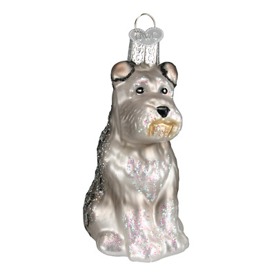 """Schnauzer"" (Gray) (12264)X Old World Christmas Glass Ornament w/OWC Box"