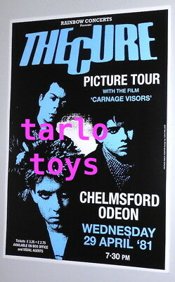 the CURE - Robert Smith - Chelmsford, Uk - 29 aprile 1981 -  poster concerto