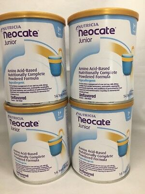 4 cans Neocate Junior Unflavored JR powder formula case FREE PRIORITY *READ AHNS