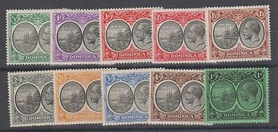 DOMINICA  65/77 Geo V & Seal 10 values to 1sh mint