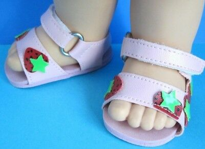 Cute Strawberry SANDALS for 13 in. Galoob Baby Face - New in Package