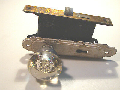 Vintage Antique Glass Door Knob And Door Latch (No Key)   L@@k
