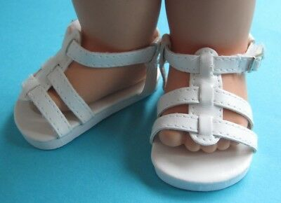 Cute white SANDALS for 13 in. Galoob Baby Face Dolls - New in Package