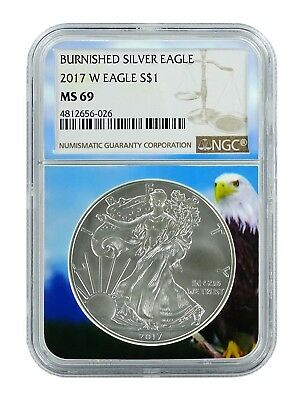 2018 W Burnished Silver Eagle NGC MS69 - Brown Label - Eagle Core