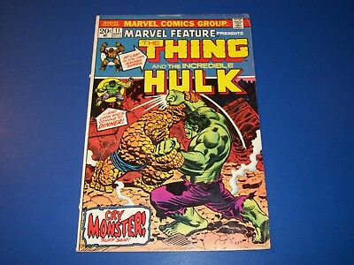 Marvel Feature #11 Bronze Age Wow Hulk vs Thing Key Starlin 1st Solo Thing