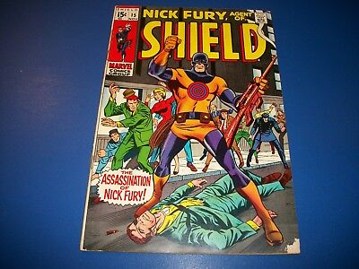 Nick Fury Agent of Shield #15 Silver Age 1st Bullseye Solid VG/F