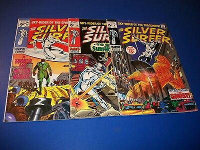 Silver Surfer #8,9,10 Silver age run of 3 Good to GVG Mephisto