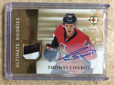 16-17 UD Ultimate RC Rookies Retro Auto Patch 3 clrs #RRJ-TC THOMAS CHABOT /25