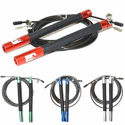 Speed 3M Adjustable Skipping Rope Cable Gym Fitness Exercise Crossfit Boxing NEW