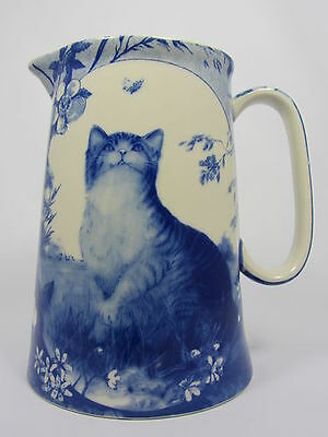 Royal Stone Flow Blue Cat Design Jug In Various Sizes