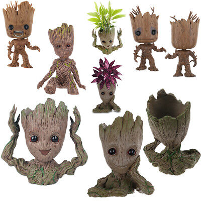 Cute Guardians of The Galaxy Vol. 2 Baby Groot Flowerpot PVC Figure Toy Gift