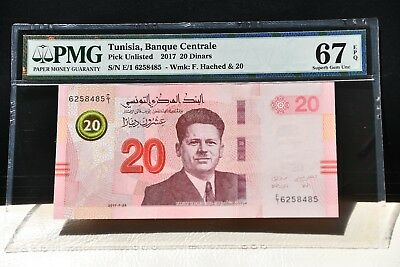 Tunisia 2017  Pick#Unlisted  PMG67  EPQ  8485